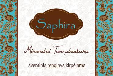 Saphira mineralai tavo plaukams - šventinis renginys kirpėjams